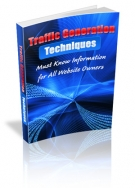 Traffic Generation Techniques eBook with Resell Rights