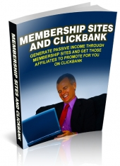 Membership Sites and Clickbank eBook with Master Resell Rights