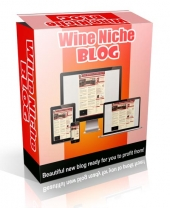 Wine Niche Blog Template with private label rights