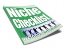 Niche Checklist eBook with Resell Rights