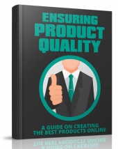Ensuring Product Quality eBook with Master Resell Rights/Giveaway