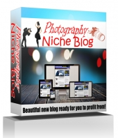 Photography Niche Blog Template with private label rights