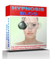 Hypnosis Blog Template with private label rights