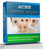 Acne Cure Blog Template with private label rights