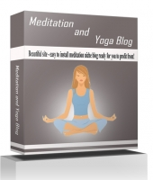 Meditation and Yoga Blog Template with private label rights