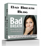 Bad Breath Blog Template with private label rights
