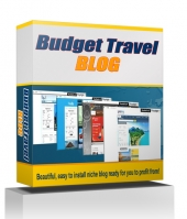 Budget Travel Blog 2015 Template with private label rights