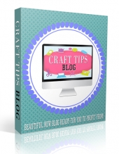 Craft Tips Blog Template with private label rights