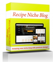 Recipe Niche Blog Template with private label rights