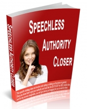 Speechless Authority Closer eBook with Resell Rights
