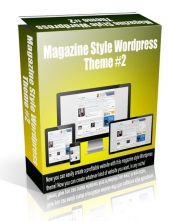 Magazine Style Wordpress Theme #2 Template with Personal Use Rights