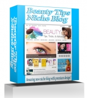 Beauty Tips Niche Blog Template with private label rights