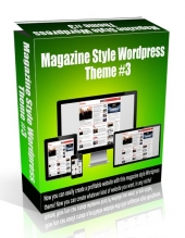Magazine Style Wordpress Theme #3 Template with Personal Use Rights