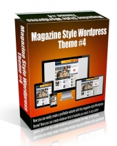 Magazine Style Wordpress Theme #4 Template with Personal Use Rights
