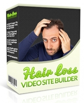 Hair Loss Video Site Builder Software with private label rights