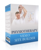 Physiotherapy Video Site Builder Software with Master Resell Rights/Giveaway Rights