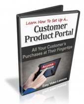 Customer Product Portals Video with Master Resell Rights