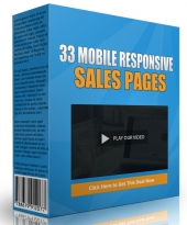 33 Mobile Responsive Sales Pages Template with Personal Use Rights/Developers Rights