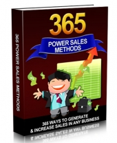 365 Power Sales Methods eBook with Master Resell Rights/Giveaway Rights