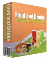 Food and Drinks Stock Images Graphic with Resell Rights
