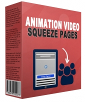 Animation Video Squeeze Page Template with Master Resell Rights