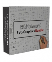Whiteboard SVG Graphics Bundle Video with Personal Use Rights