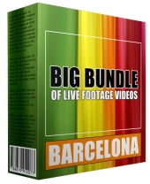 Big Bundle Of Live Footage Videos - Barcelona Video with Personal Use Rights