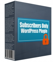 Subscribers Only WP Plugin Software with Personal Use Rights