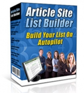 Article Site List Builder Software with Master Resell Rights/Giveaway Rights