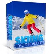 Skiing Video Site Builder Software with private label rights