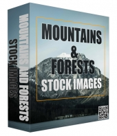 Mountains and Forests Stock Images Graphic with Resell Rights