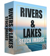 Rivers and Lakes Stock Images Graphic with Resell Rights
