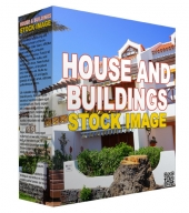 Homes and Buildings Stock Images Graphic with Resell Rights