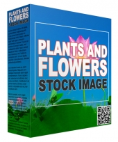 Plants and Flowers Stock Images Graphic with Resell Rights