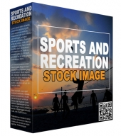 Sports and Recreation Stock Images Graphic with Resell Rights