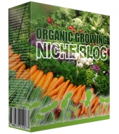 Organic Growing Niche Blog Template with private label rights