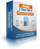 Mobile 2 Step Opt-In Generator Software with Master Resell Rights