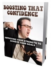 Boosting that Confidence eBook with Master Resell Rights