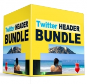 Twitter Header Bundle eBook with private label rights