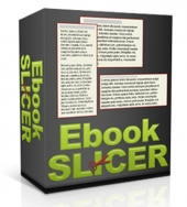 Ebook Slicer Software with Master Resell Rights/Giveaway Rights
