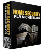 Home Security PLR Niche Blog Template with private label rights