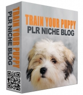 Train Your Puppy PLR Niche Blog Template with private label rights