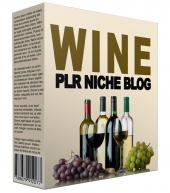 Wine PLR Niche Blog V2 Template with private label rights