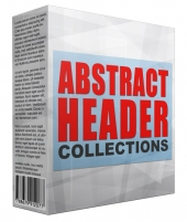 Abstract Header Collection Graphic with private label rights