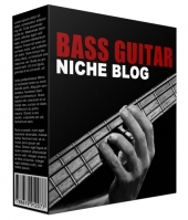 Bass Guitar Flipping Blog Template with private label rights