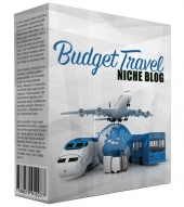 Budget Travel PLR Niche Blog V2 Template with private label rights
