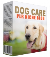 Dog Care PLR Niche Blog Template with private label rights