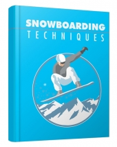 Snowboarding Techniques eBook with private label rights
