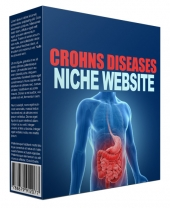 Cronhs Disease Flipping Niche Site Template with private label rights
