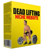 Dead Lifting Niche Website Template with Personal Use Rights